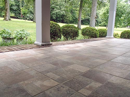 PolyLevel for Sunken Patio in Winston-Salem, Greensboro, High Point