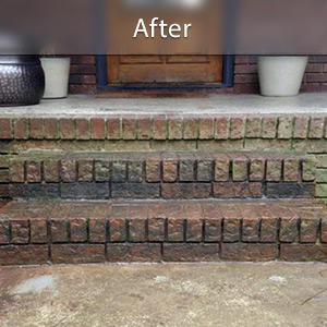 Sinking stairs repaired with PolyLevel® Greensboro
