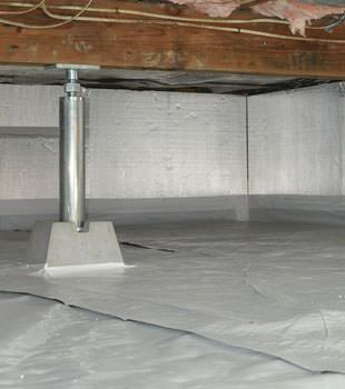 Installed crawl space insulation in Advance