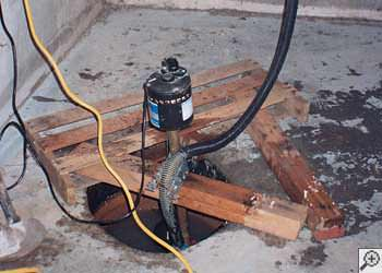 A Boone sump pump system that failed and lead to a basement flood.